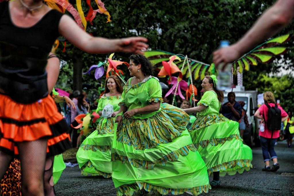 Performers in Nottingham Carnival