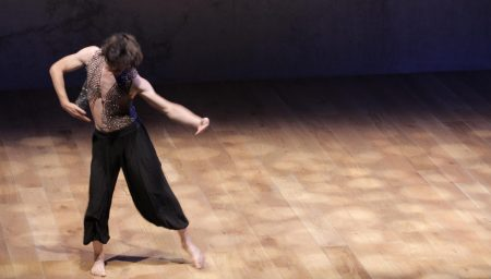 Man dances in Nottingham Contemporary