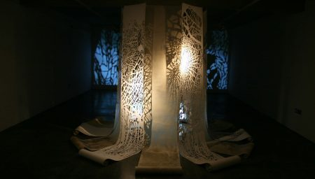 Illuminated Artwork in Church