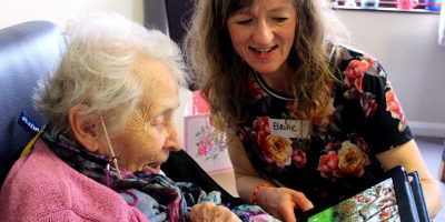 Artist works with care home resident