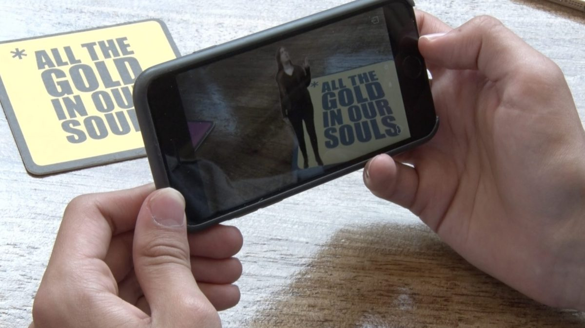 Augmented Reality Poetry app