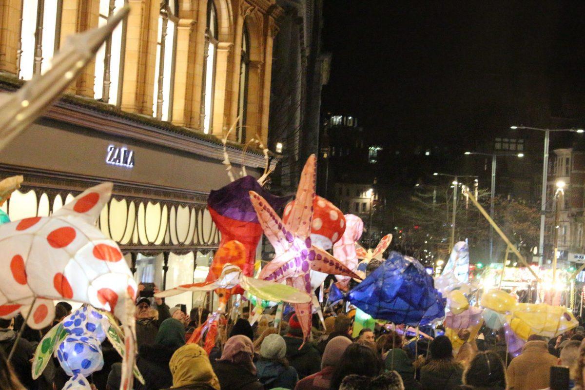 Lantern parade at Nottingham Light Night