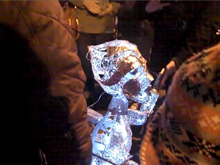 Illuminated alien puppet