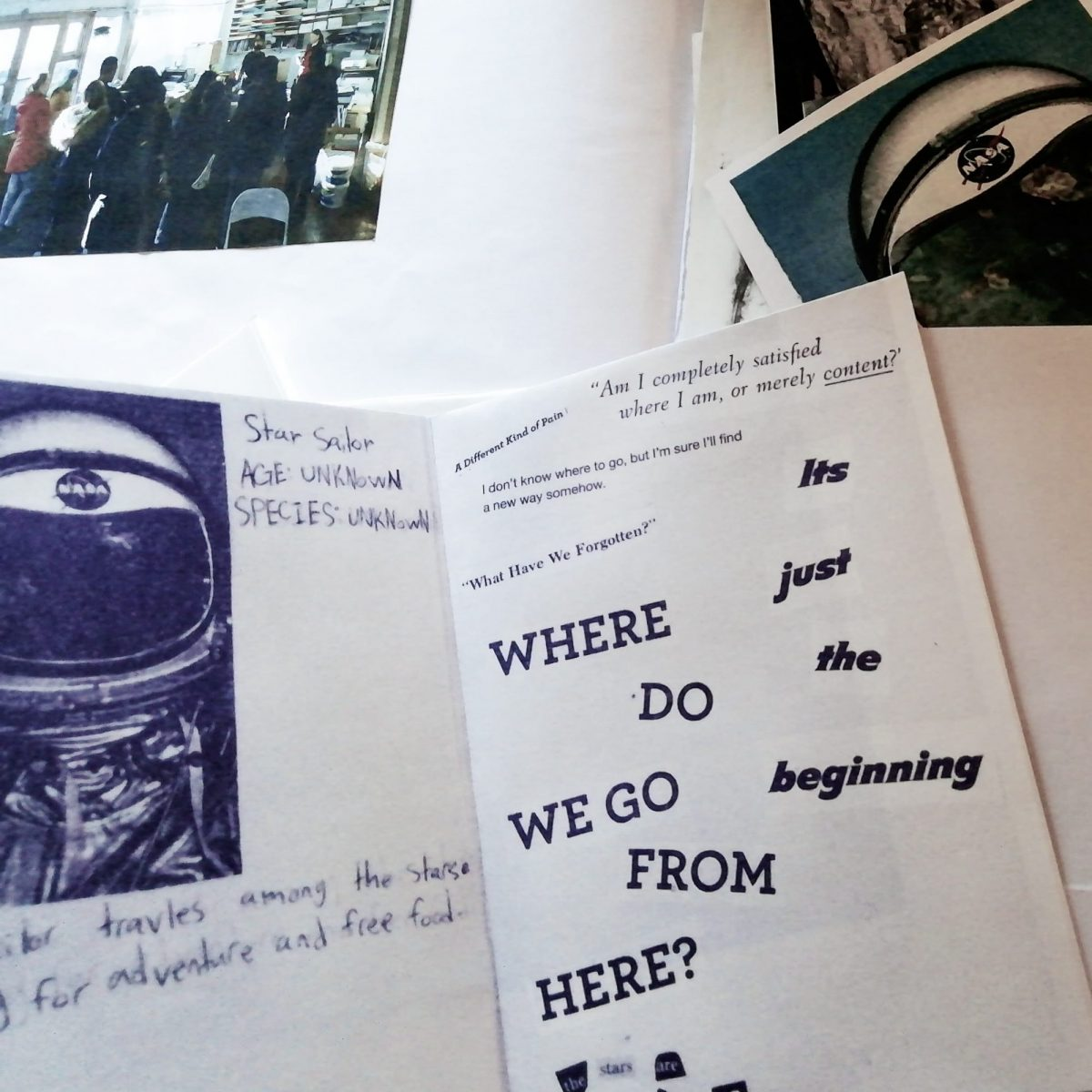 A zine made by our young participants