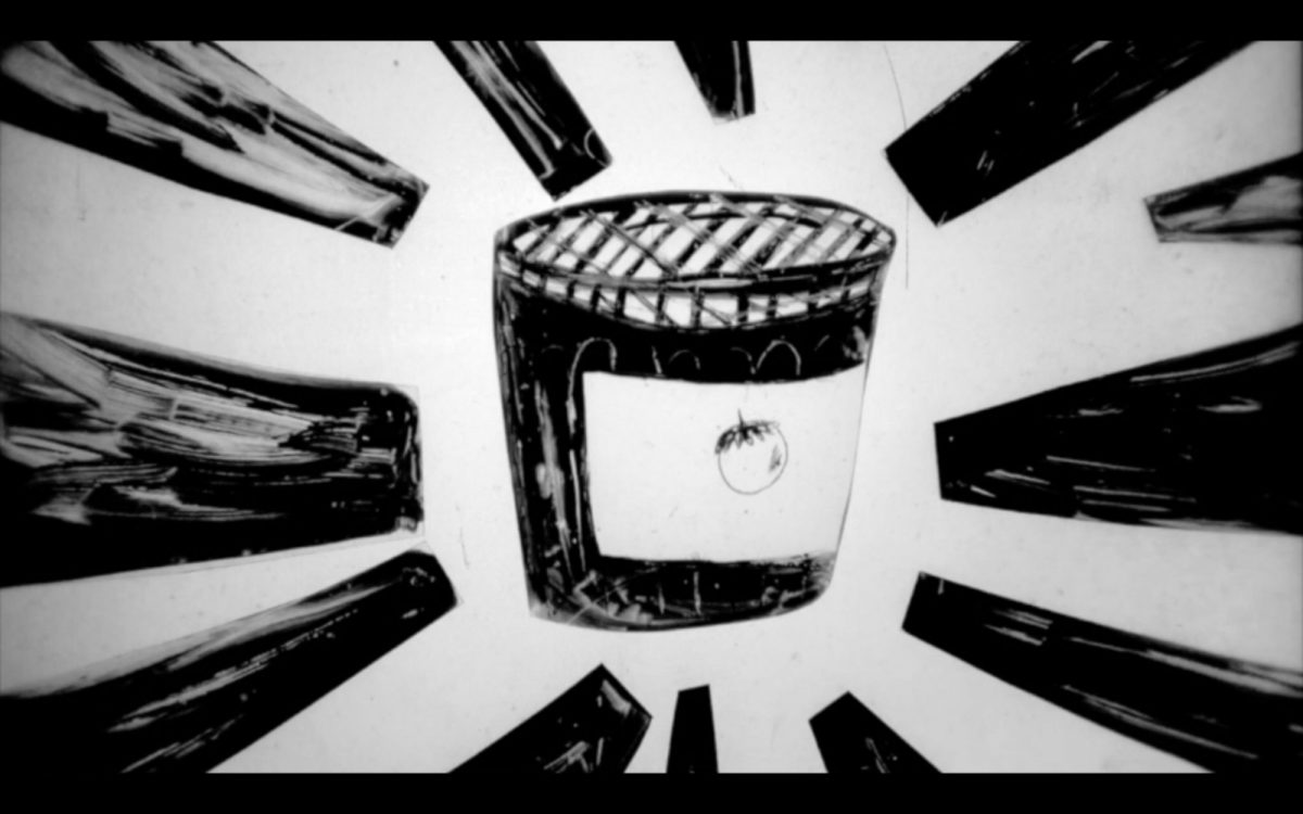 Projection of an illustrated Jam Jar