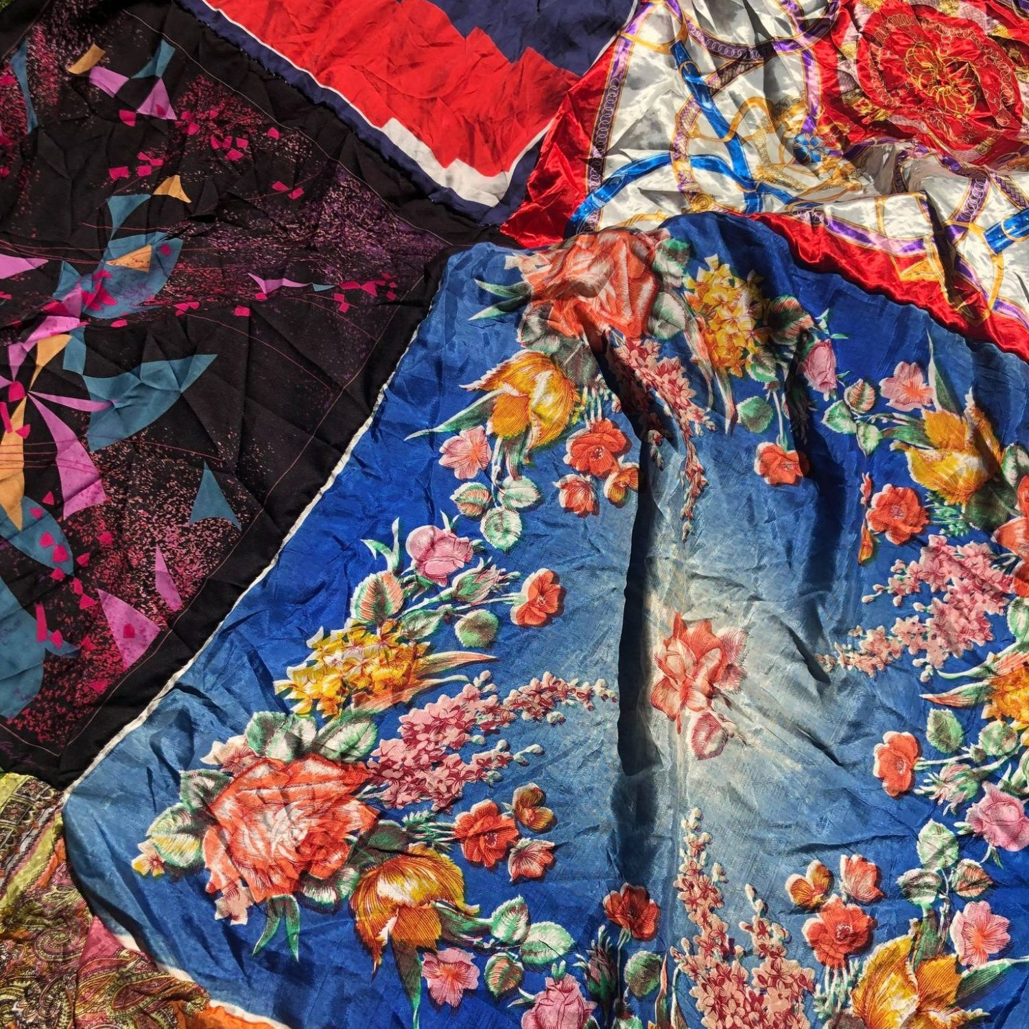 Floral fabrics and scarves
