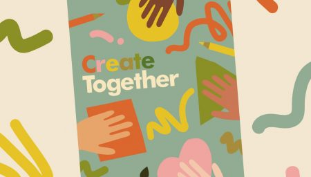 Create Together - Illustration of an arts activty pack's front cover